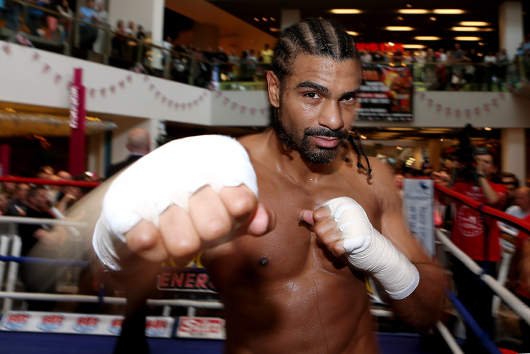David Haye and Dereck Chisora Public Work-Out