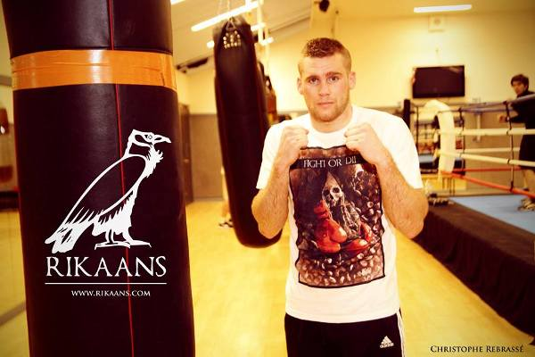 "Christophe Rebrassé portant le t-shirt Rikaans® ""Fight or Die"". Disponible sur Rikaans.com"