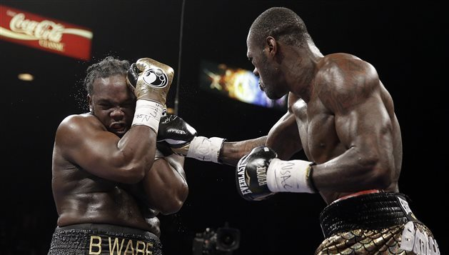 Bermane Stiverne et Deontay Wilder (Photo : Isaac Brekken)